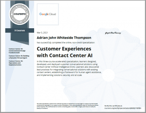 Customer experiences with contact centre AI certification
