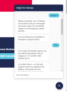 FAQs answered by a chatbot
